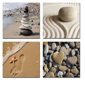 Other - NEW - 4 panel beach art on canvas